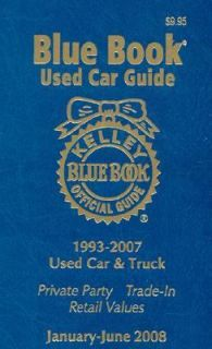 Kelley Blue Book Used Car Guide 2007, Paperback