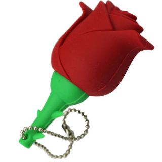 Red Rose Flower Shape 8GB USB Flash Memory Pen Drive Thumb Stick New