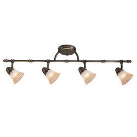 Flexible Track Lighting in Chandeliers & Ceiling Fixtures