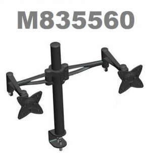 Computer Monitor Dual Swing Arm Adjustable Tilting Swivel Desk Mount