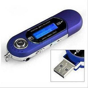 16GB  WMA Player FM Radio Voice Recorder USB Flash Drive LCD Screen