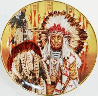 CHIEF OF THE PIEGON BLACKFOOT  Franklin Mint Native American Indian