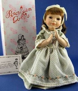 Delton 15 Porcelain Kneeling Prayer Doll Angel COA Box