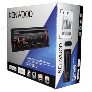 NEW Kenwood KDC 252U In dash CD/ Player Car Radio Stereo Receiver