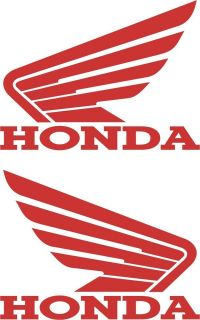 HONDA WING MOTORCYCLE DECAL STICKERS 4 x 5.5 (2 DECALS)