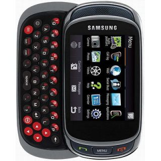 New Samsung SGH Gravity T669 3G GPS Qwerty Unlocked Cell Phone Black