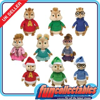 Ty Alvin & Chipmunks   Choose Your 6 Inch Character Soft Plush Toy