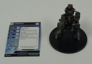 Star Wars Miniatures Force Unleashed Uggernaut #58/60 SWM Minis Rare