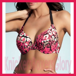 Fantasie Swimwear Puerto Rico Halter Neck Bikini Top Pink/Black 5338