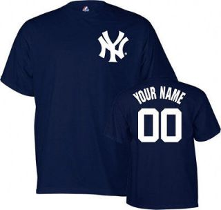 Majestic New York Yankees Customized Name & Number T Shirt Jersey