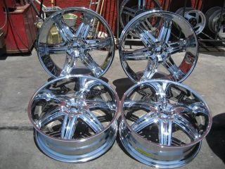 26 DUB ILLUSION CHROME WHEELS RIMS AND TIRES PACKAGE GIANNA LEXANI