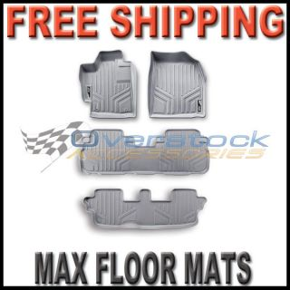 2011 2012 Toyota Sienna MAXFLOORMAT Floor Mats Full Set 3 Rows Gray
