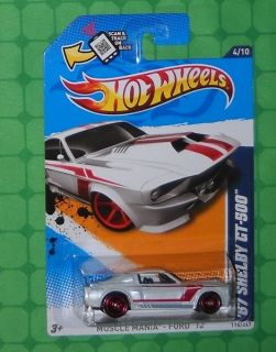 2012 Hot Wheels Muscle Mania   Ford #114  67 Shelby GT 500