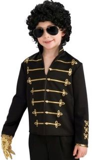 Kids Michael Jackson Boy Halloween Costume Black Jacket