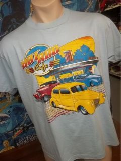Vtg 80s HOT ROD CAFE t shirt XL