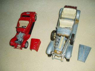 OLD HUBLEY DIE CAST CARS, TO RESTORE OR LOTS OF GOOD PARTS, RARE
