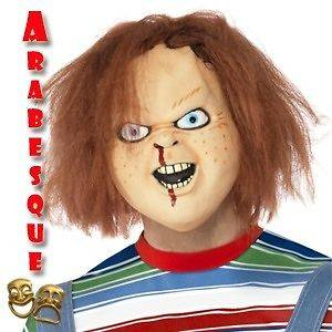 chucky adult childs play halloween latex mask official licensed chucky