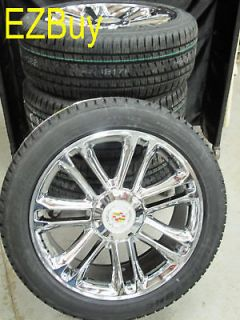 ESCALADE FACTORY CHROME WHEELS 285 45 22 BRIDGESTONE TIRES 5358