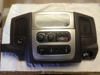 DODGE RAM LARAMIE CENTER CONSOLE BEZEL COVER RADIO 4X4 heated seats