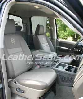 2006   2008 Dodge Ram Quad Cab Custom Leather Trimmed Upholstery Seat