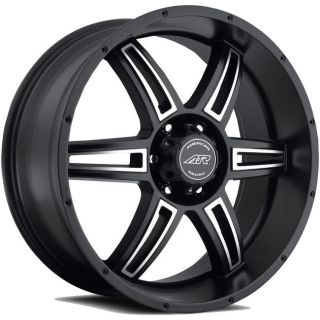 AR890 RIMS WHEELS BLACK 17x8 5x139.7 +0 (Fits 2004 Dodge Durango