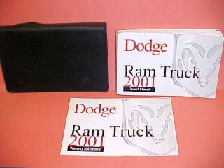 2001 DODGE RAM TRUCK OWNERS MANUAL SERVICE GUIDE KIT 01