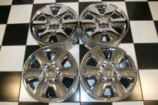 GMC SIERRA YUKON DENALI 18 CHROME CLAD FACTORY WHEELS / RIMS 5418