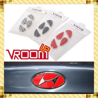 Hyundai H Logo Emblem Black Filler 8 Pieces(fit Hyundai Genesis Coupe