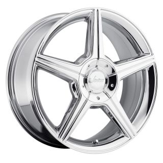 15 inch Vision Autobahn chrome wheels rims 5x115 +38 aurora intrigue