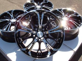 Wheels Black Rims 5 Lugs Neon Srt Neon Scion Tc Xd Camry Celica Jetta