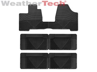 Weather Floor Mats   Toyota Sienna   2004 2010   Black (Fits Tacoma