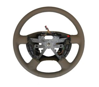 NEW GENUINE OEM FORD LEATHER STEERING WHEEL TAN CRUISE CLIMATE CONTROL
