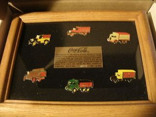 LIMITED EDITION COCA COLA 6 PIN DELIVERY TRUCK SET   ORIGINAL