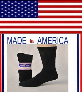 Men women plus black cotton diabetic crew socks gift for him her shoe