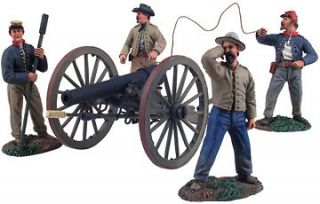 Civil War Toy Soldiers W Britain Confederate Artillery Set 10 Pounder