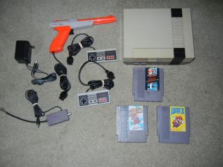 NINTENDO NES SYSTEM W/MARIO 1 3, DUCK HUNT, & NEW 72 PIN, FREE US