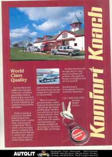 1987 Komfort Koach Chevrolet Ford Conversion Van Brochure Calumet Farm