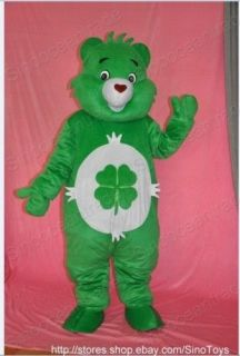 Care Bear Green Mascot Costume Fancy Dress Outfit