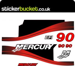 MERCURY 90 OUTBOARD ENGINE STICKERS DECAL KIT