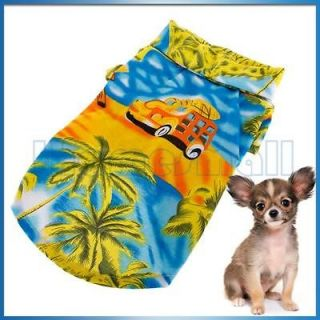 Pet Dog Fashion Hawaiian Beach Shirt Clothing Apparel w/ Coconut Tree