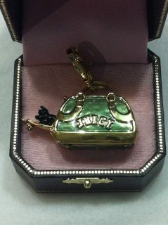 Juicy Couture Retired Dog Puppy Carrier Purse Charm Pendant