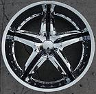DOLCE DC26 22 CHROME RIMS WHEELS LINCOLN MKS MKZ MKX / 22 X 9.0 5H