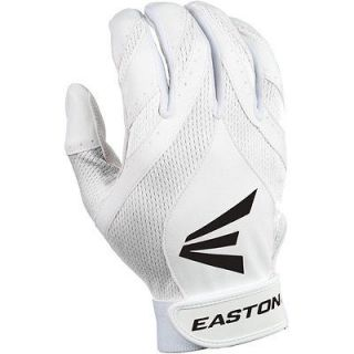 New Easton Synergy II Fastpitch Adult Small Batting Gloves White