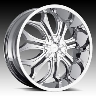 26 VCT GODFATHER WHEELS 6X135/6X5.5 CHROME CHEVY RIMS