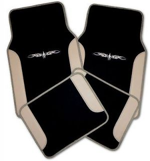 Tan Black Car Truck Auto Interior Floor Mats Set #3 (Fits Ford Edge