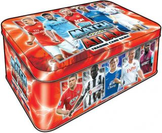 MATCH ATTAX 2012/2013 SEALED TIN  INCLUDES 50 CARDS + RULES + CHIP
