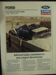 Ford 7106 7108 7109 Compact Tractor Loader Sales Brochure