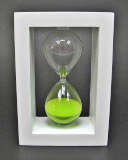 Simple Design Wooden Frame 30 Minutes Hourglass Sand Timer (5 Colors