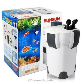 100 Gallon Aquarium Fish Tank External Canister Filter + Media Kits