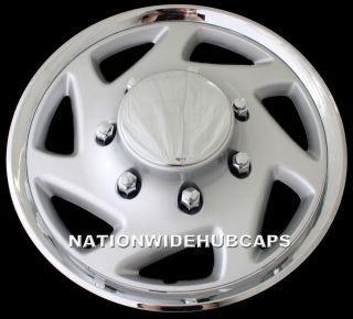 E250 E350 Econoline Van 16 Wheel Covers Rim Caps Center Lug Nut Hubs